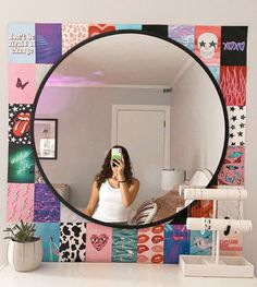 Room Design Bedroom, Room Ideas Bedroom, Bedroom Decor, Mirror Bedroom, Indie Room Decor, Aesthetic Room Decor, Neon Room, Cute Room Ideas, Cozy Room