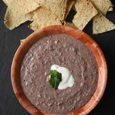 Roasted Corn and Black Bean Dip.  Not the best picture for the dip. I borrowed it, because I keep forgetting to take one myself.  Can also be used as an alternative to traditional refried beans in enchiladas, burritos, etc.
