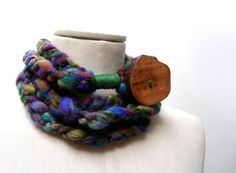 Loop Infinity Scarf Necklace Crochet Scarflette by ixela on Etsy, $30.00