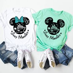 Disney Cruise 2020 Family Matching Shirts with Mickey and Minnie. Cute Disney Shirts, Disney Vacation Shirts, Matching Disney Shirts, Family Vacation Shirts, Mickey Mouse Shirts, Matching Couple Shirts, Disney Shirts For Family, Disney Cruise, Family Shirts