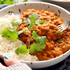 Instant Pot Red Curry Lentils - Guess what's for dinner? Creamy, spicy, delicious red curry lentils, made in the Instant Pot. Healthy Recipes, Indian Food Recipes, Soup Recipes, Vegetarian Recipes, Cooking Recipes, Lentil Recipes Indian, Vegetarian Gumbo, Cooking Fish, Pea Recipes