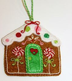 DMC's fun Gingerbread House Ornament