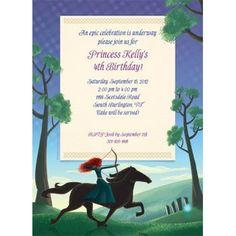 Brave Princess Personalized Invitation (each) - Custom Invitations & Party Supplies