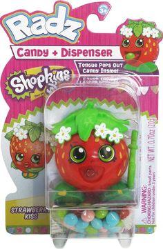Shopkins Radz Candy Dispenser Strawberry Kiss