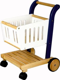 Off to the market! The perfect size shopping cart for your little one- for pretend shopping trips at home or to take along to the store. Plenty of room for groceries and even a little baby doll. 3+
