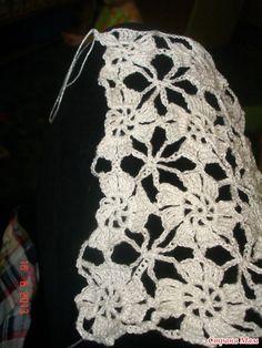 Crochet bolero + Diagram + Pattern Step By Step