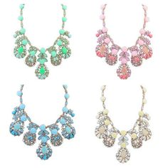 New Trendy Summer Jewelry Ethnic Vintage Choker Rose Flower Necklace Women Fashion Gold Filled Statement Shourouk Necklaces 2015