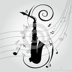 Saxophone by Ladiseno, via Dreamstime Saxophone Instrument, Saxophone Music, Tenor Sax, Old Shool Tattoo, Music Cookies, Piano, Note Tattoo, Jazz Art, Music Backgrounds