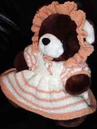 Baby Dress & Bonnet