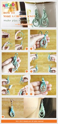 how to make a chinese knot-make pipa earrings