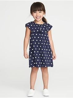 Old Navy Ruffled Polka-Dot Jersey Dress for Toddler Girls Toddler Girl Dresses, Toddler Girls, Girls Dresses, Summer Dresses, Little Girl Fashion, Kids Fashion, Growing Up Girl, Cotton Pants, Baby Dress