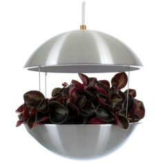 RS 25 by Poul Cadovius, HF Belysning, Royal System, 1968 Aluminum Flower Lamp   From a unique collection of antique and modern chandeliers and pendants at https://www.1stdibs.com/furniture/lighting/chandeliers-pendant-lights/