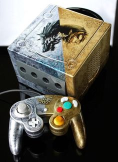 Beautiful custom Legend of Zelda: Twilight Princess GameCube.