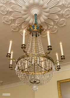 Chandelier detail, Oak Alley Plantation, Vacherie, Louisiana