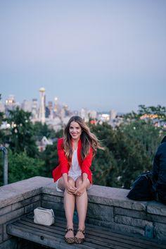 Gal Meets Glam Summer In Seattle - Alice +Olivia blazer in Poppy
