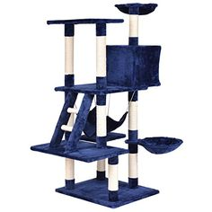 """TANGKULA 57"""" Cat Tree Cat Tower with Scratching Posts Lad..."""