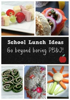 Looking for some back to school lunch ideas that go beyond the boring sandwich? We have a few great ones to share with you!