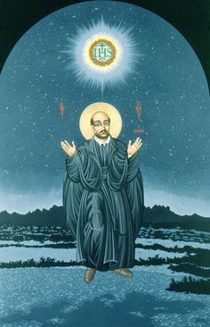 Happy feast of St. Ignatius of Loyola (by McNichols) Ignatian Spirituality, St Ignatius Of Loyola, Happy Feast, Spiritual Images, Jesus Art, Prayer Cards, Religious Art, Art And Architecture, Christianity