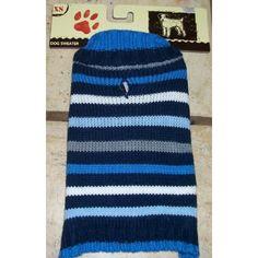 XS Dog Sweater Blue Stripe
