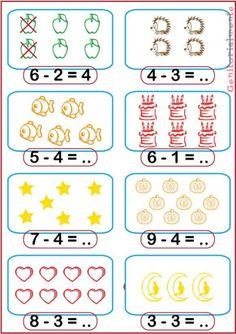 Kindergarten Math Worksheets, Homeschool Kindergarten, School Worksheets, Preschool Math, Math Classroom, Special Education Activities, Kids Education, Preschool Activities, English Grammar For Kids