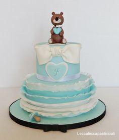 Teddy bear  Batpsim cake