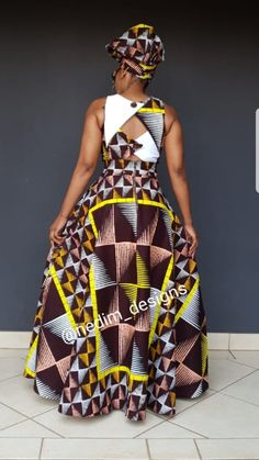 Great latest african fashion look . African Dresses For Women, African Fashion Dresses, African Attire, African Wear, African Women, Fashion Outfits, African Style, Diy Fashion, African Print Dress Designs