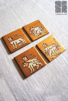 Hand-painted Pattachitra Coasters