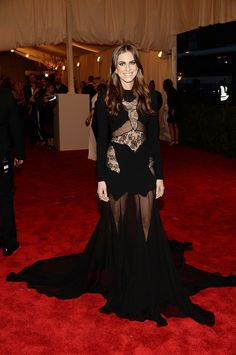 At the 2013 Met Gala, Allison Williams showed off her inner rebel with a dramatic Altuzarra dress that included lace and sheer panels.