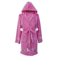 Wrap up in a fluffy and feminine pink hooded gown