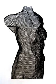 David Begbie: NUWDU, Edition 7 of 9, Mild Steel Panel, 72.5 x 51.5 x 1 cm. Each wire mesh sculpture is uniquely hand-made out of a single sheet of bronze or steel mesh.