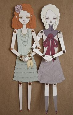 paper dolls from inking cap