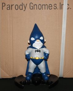 Bat Gnome parody garden gnome inspired by DC by ParodyGnomes, $26.99