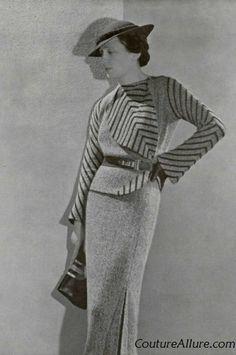Couture Allure Vintage Fashion: Paris Fashion - 1934