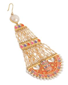Colorful Passa Rimmed With Pearl Beads