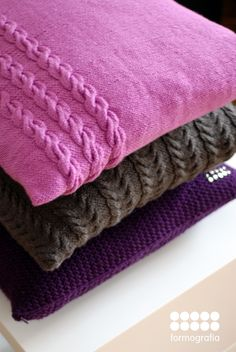hand made knitten pillows