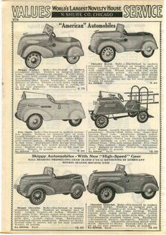 1938 Ad American Pedal Cars