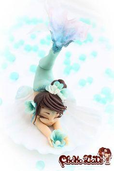 Mermaid Party ~ sculpted mermaid cake via Cakes Decor (Inspo)