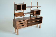 Miniature Mid Century Shelving Unit par MIMOstudio sur Etsy