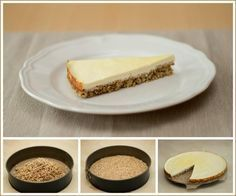 Tvarohový koláč z ovesných vloček Healthy Cake, Cheesecake, Good Food, Food And Drink, Gluten Free, Pudding, Sweets, Cooking, Ethnic Recipes
