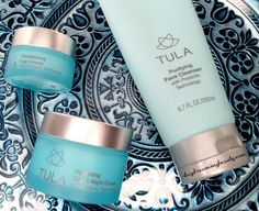 TULA Probiotic Skin care - Purifying Face Cleanser, Illuminating Serum, Hydrating Day and Night Cream, Revitalizing Eye Cream. Soothes inflamed skin.