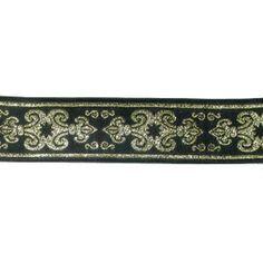 "47mm x 1yd or pre-cut length Various Colours /'Amravati/' Metallic Ribbon 1.7//8/"""
