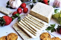 This garlic herb vegan cheese is perfect for slicing and eating on crackers. Made with coconut milk, it is dairy free, gluten free and nut free, anyone will enjoy this creamy and delicious vegan cheese. Make this into sliceable vegan cheese or into vegan cheese that melts!