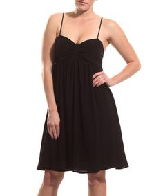 Look what I found on #zulily! Black Bow Empire-Waist Dress by Coveted Clothing #zulilyfinds