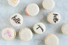 typography macarons