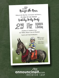 Winning Smiles Kentucky Derby Party Invitations will put a little humor into your Derby Party! Come see our all exclusive, unique Kentucky Derby Party Invitations at Announcingit.com