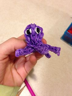 Octopus made out of crazy loom bands. So cute!!! :) made by: Ellie Parmenter