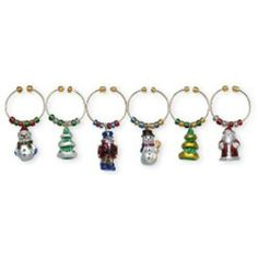 Boston Warehouse Heirloom Ornament Wine Charm, Set of 6 by Boston Warehouse. $12.05. Hand wash recommended. 1/2-Inch long. Set of 6 wine charms. Hand painted charms on metal rings. By boston warehouse - creative ideas for home entertaining; holiday design. The Boston Warehouse set of 6 Heirloom Ornament Wine Charms provides an interesting solution to an entertaining dilemma. The 1/2-Inch, hand painted charms on metal rings, allow guests to identify their wine glass when ...