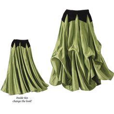 Velvet & Taffeta Skirt