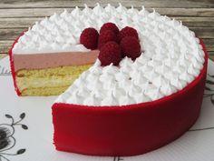 Hindbærlagkage Baby Food Recipes, Dessert Recipes, Danish Food, Crazy Cakes, Mousse Cake, Let Them Eat Cake, Yummy Cakes, No Bake Cake, How To Make Cake
