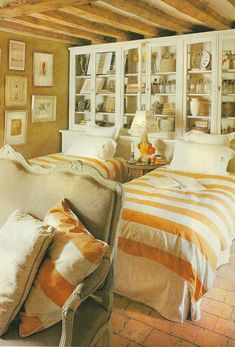 Stephen Shubel ~ Loire country home of decorator Bookcases as headboards....hmmmm